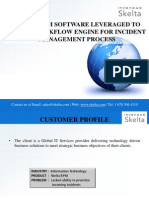 Skelta BPM software leveraged to design Workflow Engine for Incident Management Process