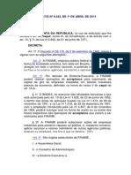 Decreto Nº 8222