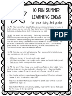 10 summer learning ideas for your rising third grader