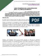 México_ El Discurso Tramposo de La Recuperación Económica y El Empleo en México