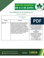 MAPA_Semana Dos Alimentos Organicos_ de 26 de Maio a 2 de Junho