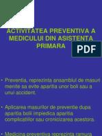 Activitatea Preventiva a Medicului Din Asistenta Primara