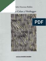 Entre Celan y Heidegger - Pablo Oyarzun
