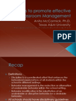 12 Steps to promote effective classroom management