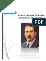 Ensayo Cardenismo y La Educación