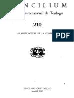 Concilium 210 - Examen Actual de La Confesion