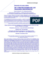 Programa Curso Generadores Sincrónicos 16, 17 y 18 d e Junio 2014 (1)