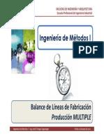 M5.3 IM I - USMP - Balance de Líneas de Fabricación - Producción Múltiple