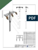Cruceta Doble Para Terminal de Linea Trifasica a 13,8 Kv Sobre Poste Tubular de Acero