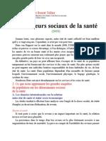 Facteurs Soc Sante Cercetari