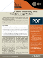 Low-wage Work Uncertainty often 