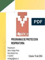 El Tesoro - Proteccion Respiratoria