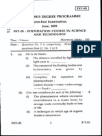 6.Foundation in Science and Technology(Fst) June 2009