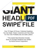 Giant Headlines Swipe File