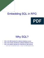 Embedding SQL in RPG