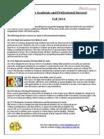ALI Elective Courses Fall 2014