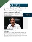 14-05-2014 Mileno.com - Perfila Gamboa aprobación de leyes energéticas en tercer periodo extraordinario.