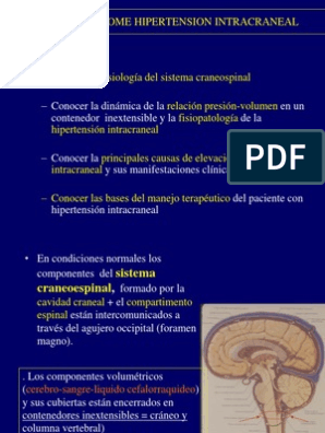 Síntomas de hipertensión intracraneal intratable
