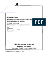 Application of Two-Equation Turbulence Models in Aircraft Design.