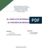 La Naturaleza Del Conflicto Internacional