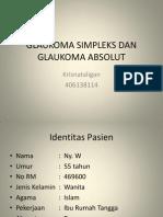 Glaukoma simpleks absolut