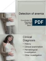 detection of anemia