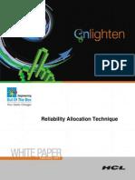 Reliability Allocation Technique
