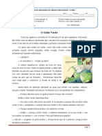 Teste 3º Periodo - Texto Dramatico