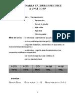 Determinarea Caldurii Specifice a UnuiiCorp