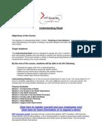 Understanding Retail Course Description
