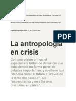 Tim Ingold La Antropología en Crisis