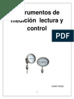 Instrumentos de Medición Lectura y Control