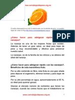 Bajar de peso comiendo naranjas