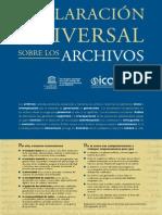 Declaración Universal de Los Archivos
