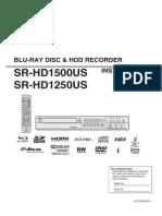 Blu-Ray Recorder JVC SR-HD1500US