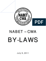 NABET BY-LAWS, July 9, 2011