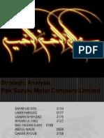 Strategic analysis pak suzuki motors