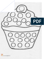 Printable Subitising and Counting Template Cupcake