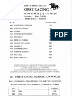 Wynn Las Vegas' 2014 Belmont Stakes odds