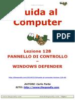 Guida al Computer - Lezione 128 - Pannello di Controllo - Windows Defender