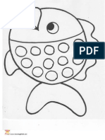 Printable Subitising and Counting Template Fish