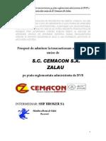 2009 Prospect de Emisiune Aprobat de CNVM1