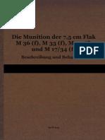 """L.Dv.4403"" Die Munition der 7,5 cm Flak M36(f), M33(f), M30(f) und M17/34(f)"