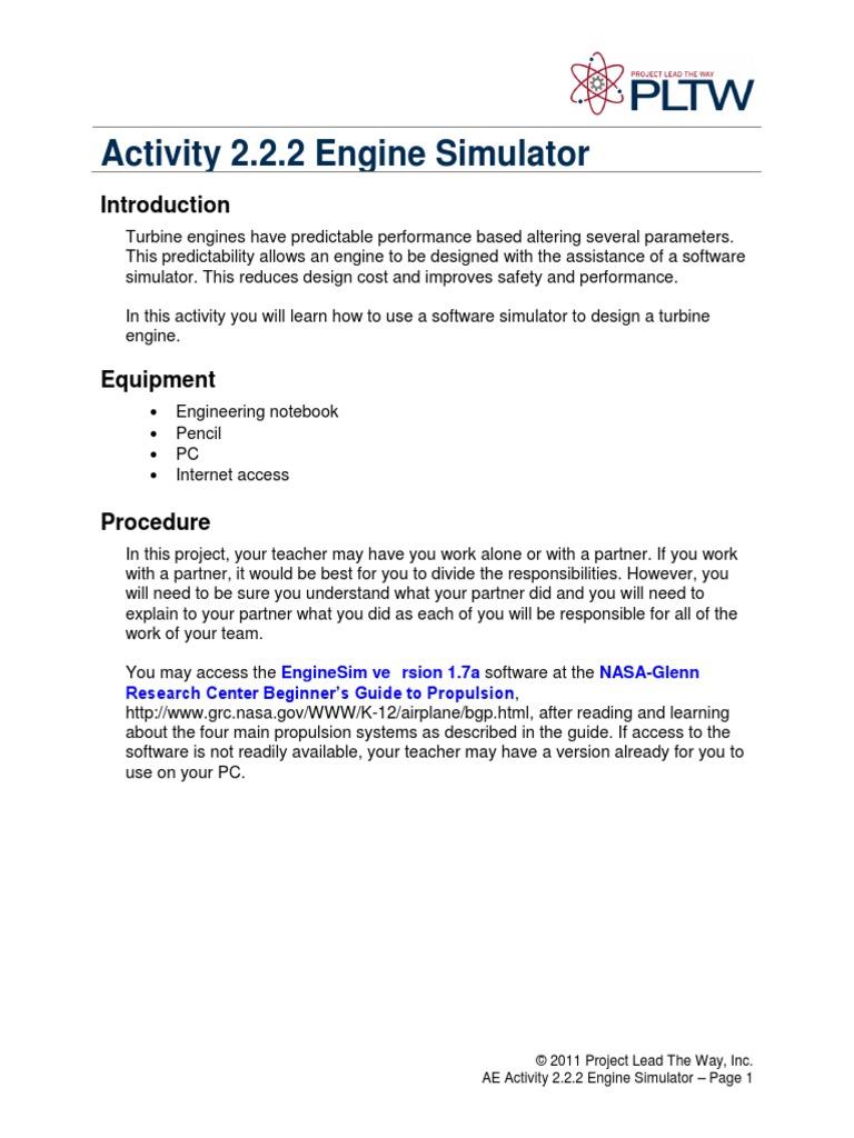 2 2 2 a enginesimulator propulsion industries rh scribd com Staples Engineering Notebook Best Robotics Engineering Notebook Examples