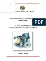Plan de Mantenimiento UTA