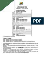 Programação de Disciplina Genética Molecular 2014-1