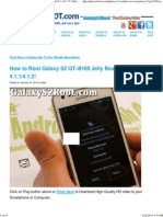 How to Root Galaxy S2 GT-i9100 Jelly Bean Android 4.1.1_4.1.2! _ Galaxy S2 Root