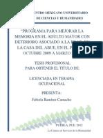 Programa Para Mejorar La Memoria en El Adulto Mayor Con ...