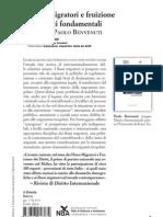 """""""Flussi migratori e fruizione dei diritti fondamentali"""" a cura di Paolo Benvenuti (il Sirente)"""