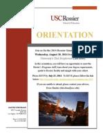 General Orientation Invitation 2014